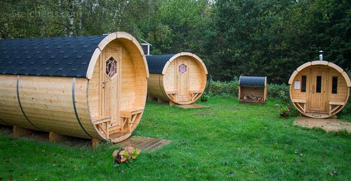 Hier entsteht Hobbithausen auf dem Campingplatz von Hasle