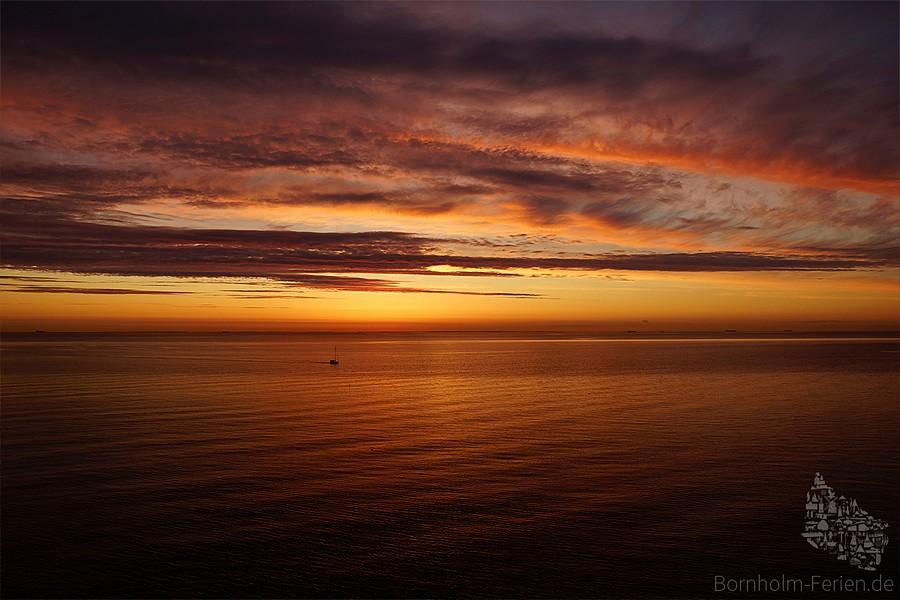 Sonnenuntergang an Bornholms Westküste