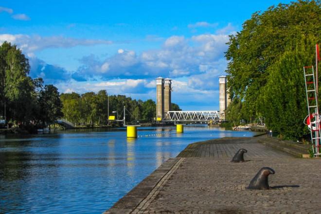 Im Hafen von Värnersborg.