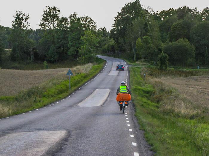 Auf den Landstraßen machte das Radfahren richtig Spaß.