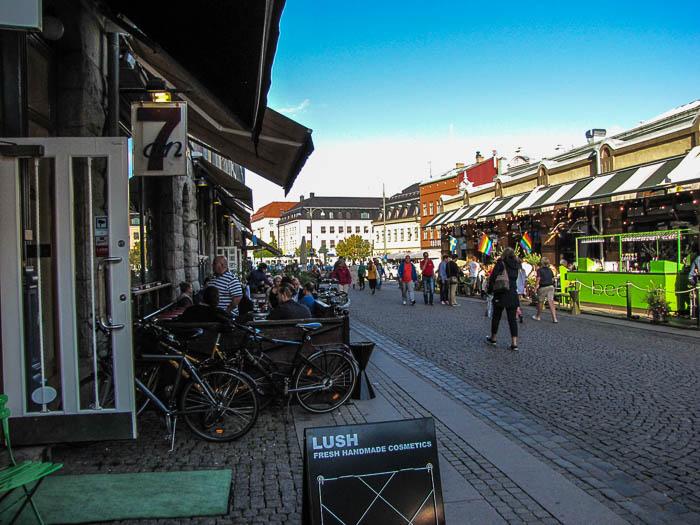 In den Straßen von Göteborg.