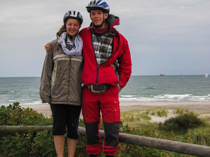 Anja-Melanie und ich am nördlichsten Punkt des Landes.