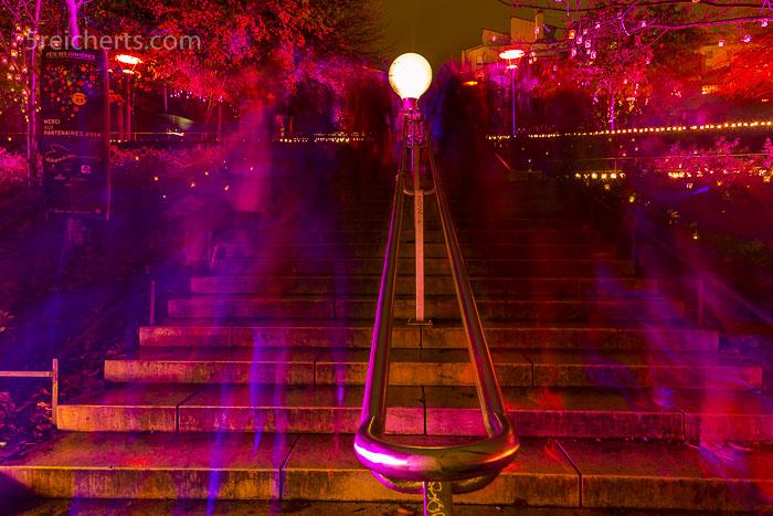 Besucherstrom auf dem Lichterfest von Lyon
