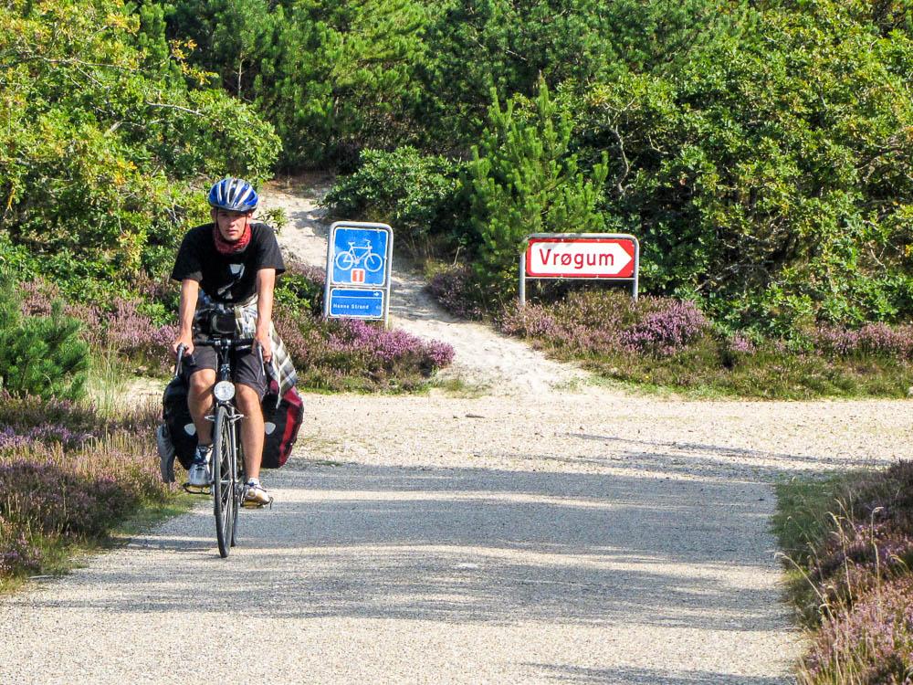 In Dänemark folgen wir oft den ausgeschilderten Radwegen. Das ist nicht ganz so abenteuerlich.