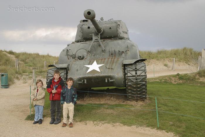 In der Normandie lernten wir Weltkriegsgeschichte vor Ort.