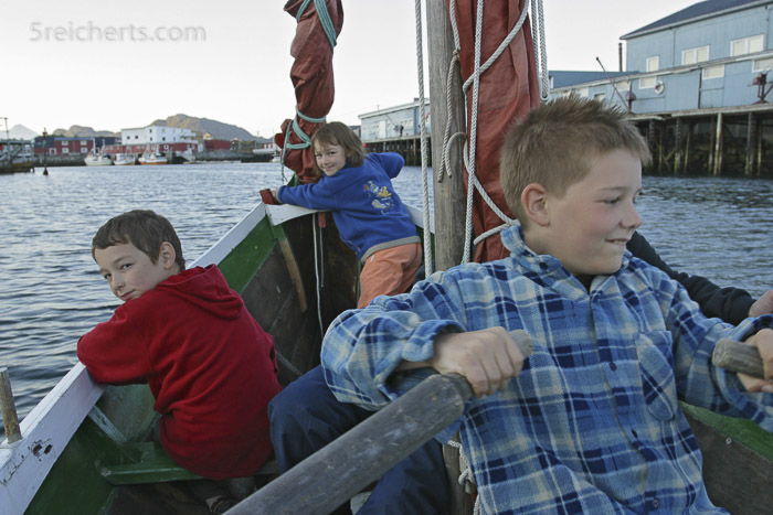 In Norwegen durfte ich ein Wikingerboot rudern.