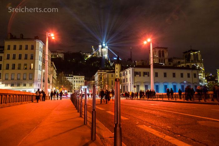 Basilika im Lichterfest von Lyon