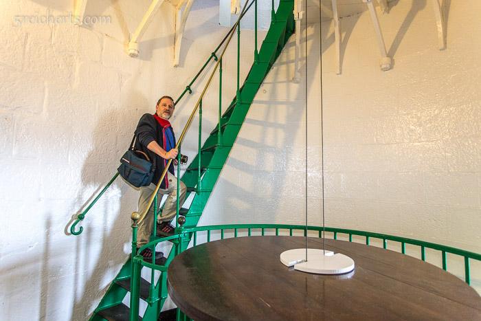 Gunter im Leuchtturm Goulphar, Belle Ile