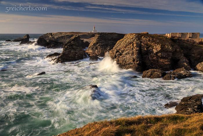 Wellen am Pointe de Poulain, kurze Belichtungszeit