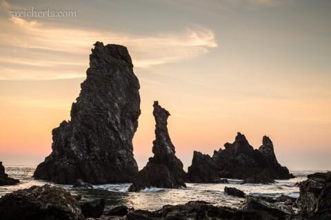 Sonnenuntergang Aiguilles, Belle Ile