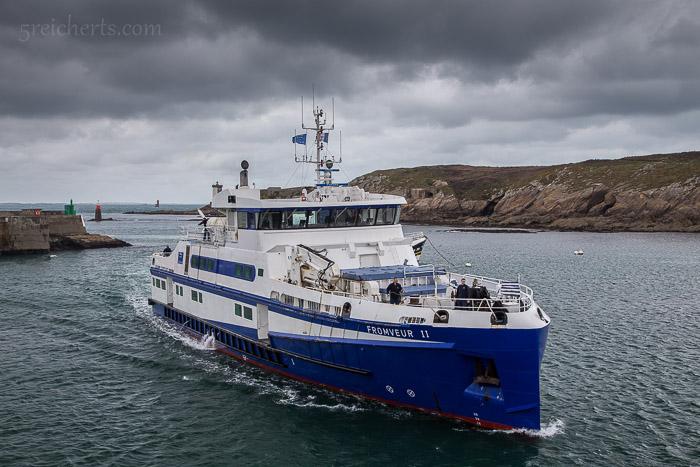 Das neue Fährschiff zur Île d'Ouessant