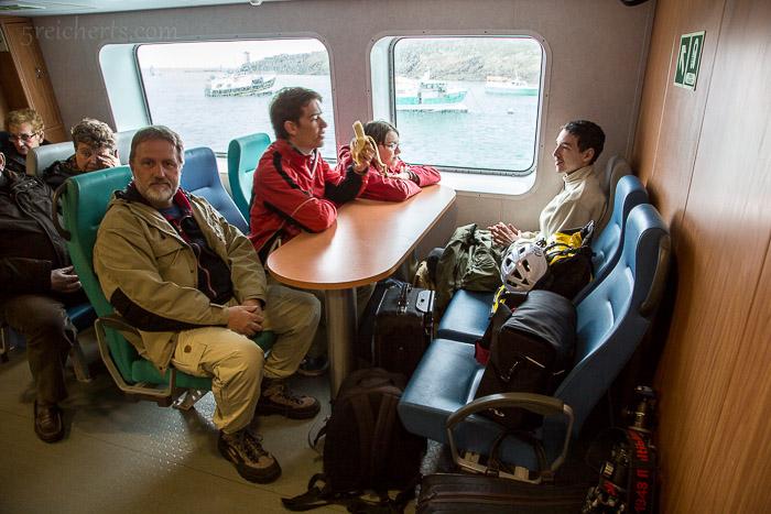 Vier Reicherts auf der Fähre zur Île d'Ouessant