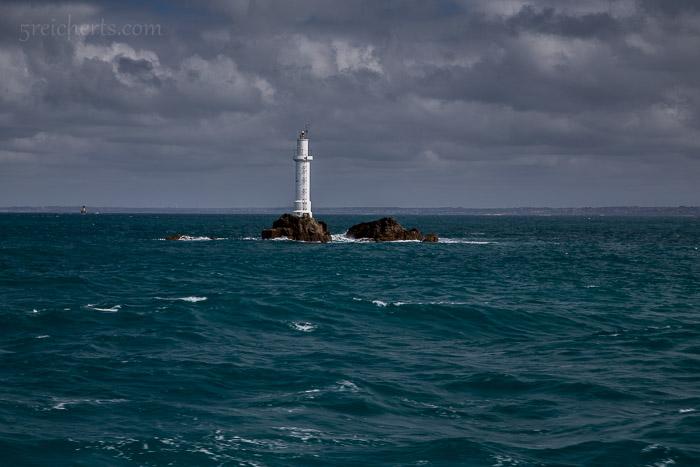 Leuchtturm vor der Île de Molene