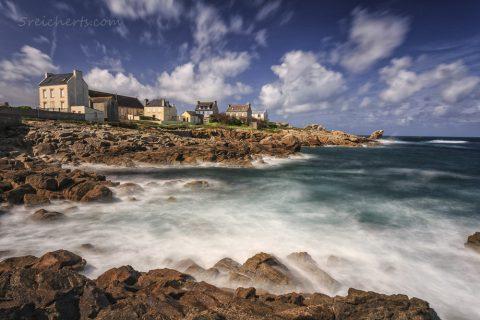 Wellen vor der Ile de Sein