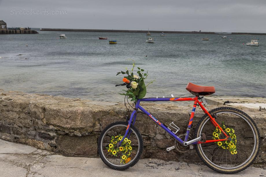 Fahrrad auf der Ile de Sein, Bretagne