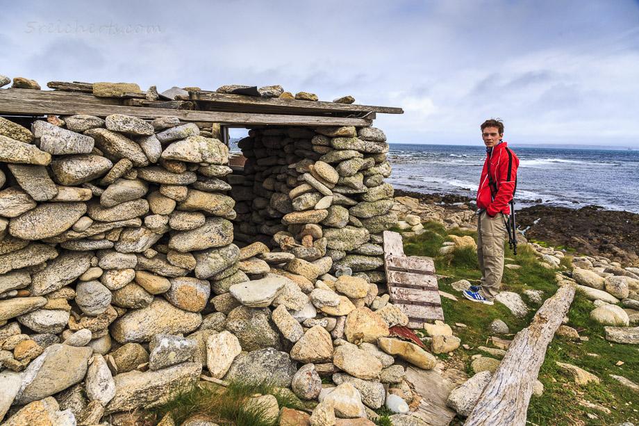 Im Süden der Insel steht diese Hütte