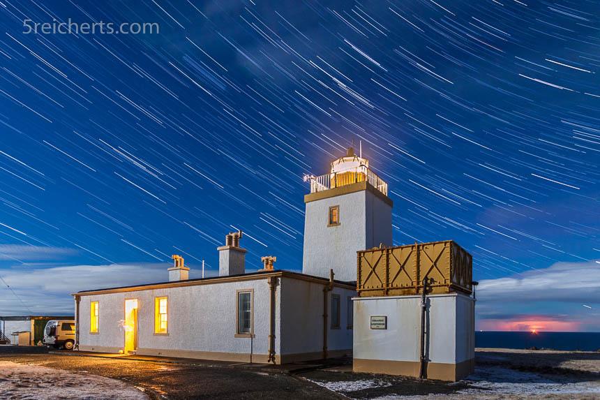Eshaness Leuchtturm, Shetland, Großbritannien