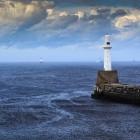 South Breakwater Light Aberdeen, Schottland, Großbritannien