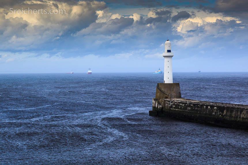 Hafeneinfahrt von Aberdeen, Schottland