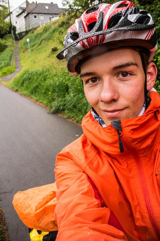 Selfie auf dem Radweg