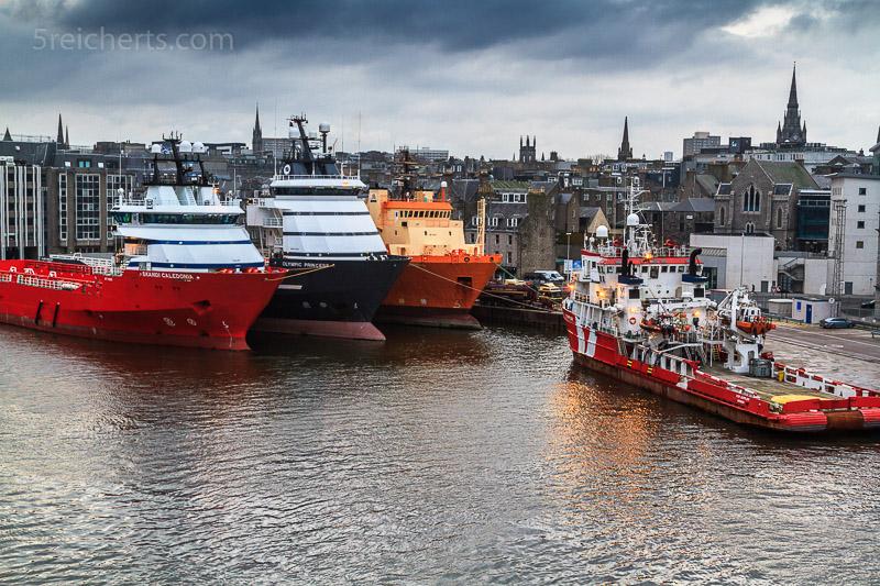Aberdeen Hafen, Schottland