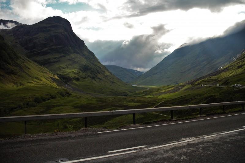 Das Bergaufradeln wird in den Highlands immer gut belohnt