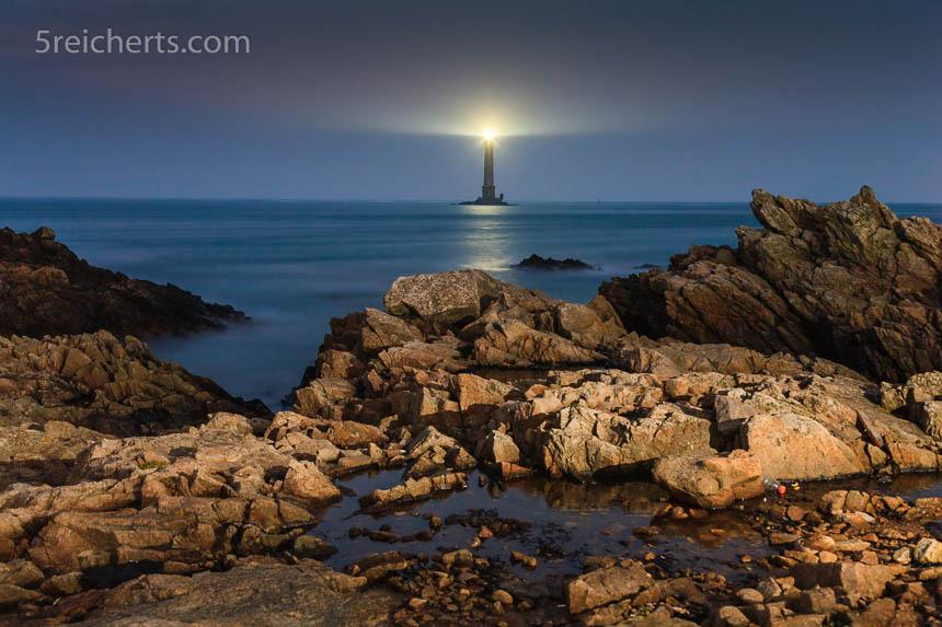 Leuchtturm am Cap de la Hague, Normandie, Frankreich