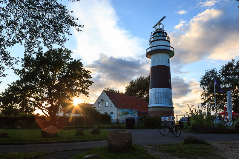 Bülk, Kiel, Deutschland - letzter Sonnenstrahl