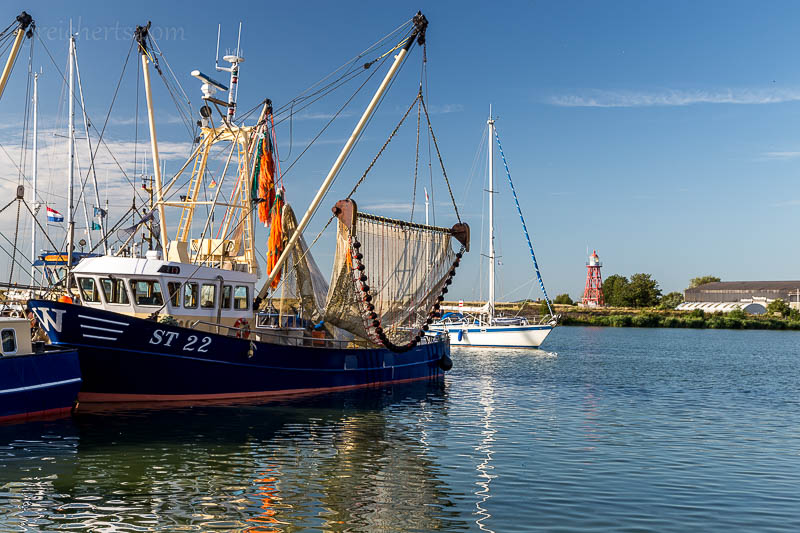 Fischerboot im Hafen von Stavoren