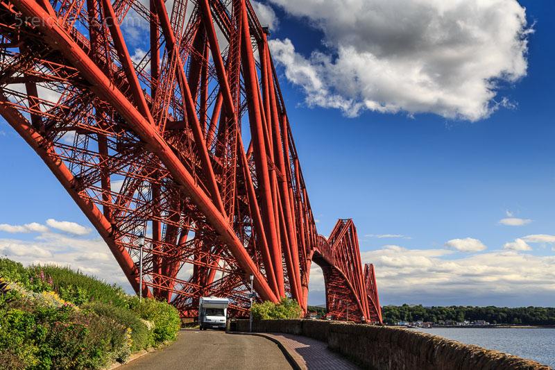 Die Firth Bridge und unser Wohnmobil