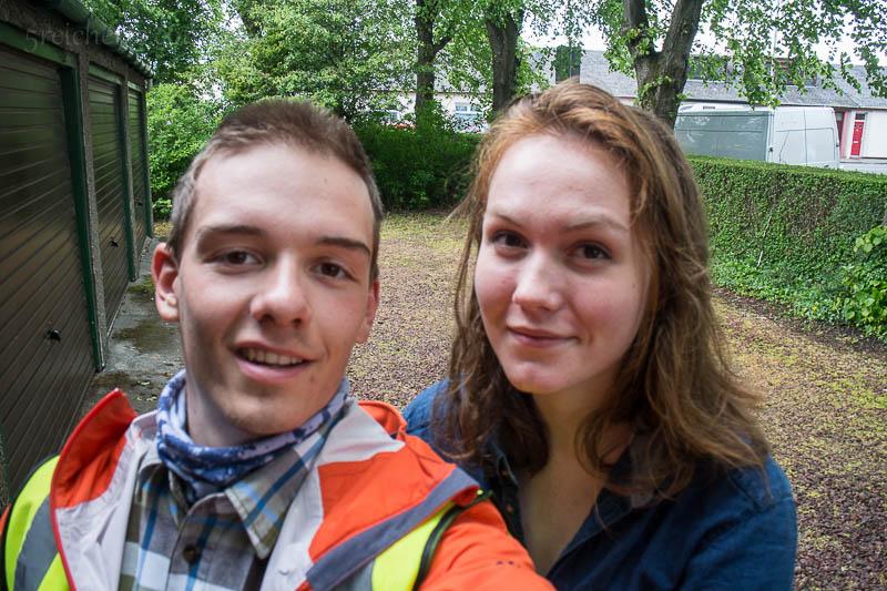 Ich und Rhona, eine gute Freundin von mir, die mir Glasgow zeigte