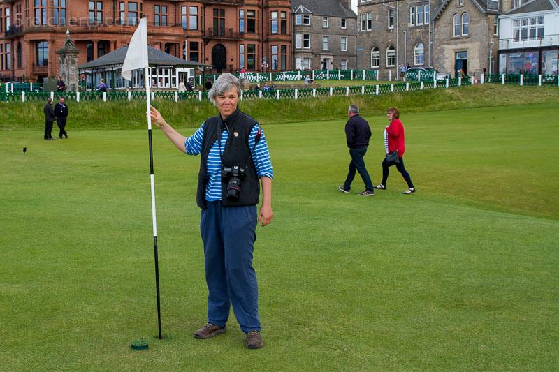 Gabi auf dem berühmten Golfplatz