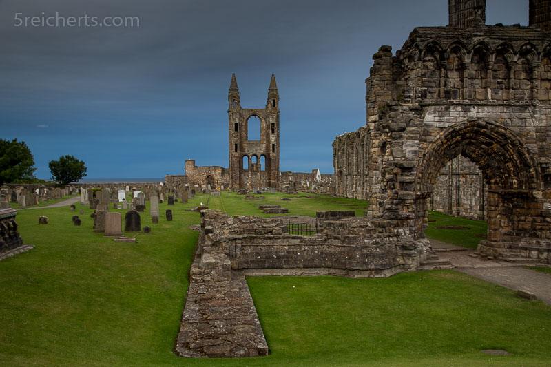 Abendstimmung an der Kathedrake von St Andrews