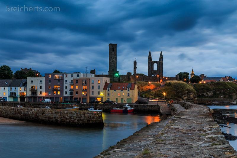 Abends im Hafen von St Andrews