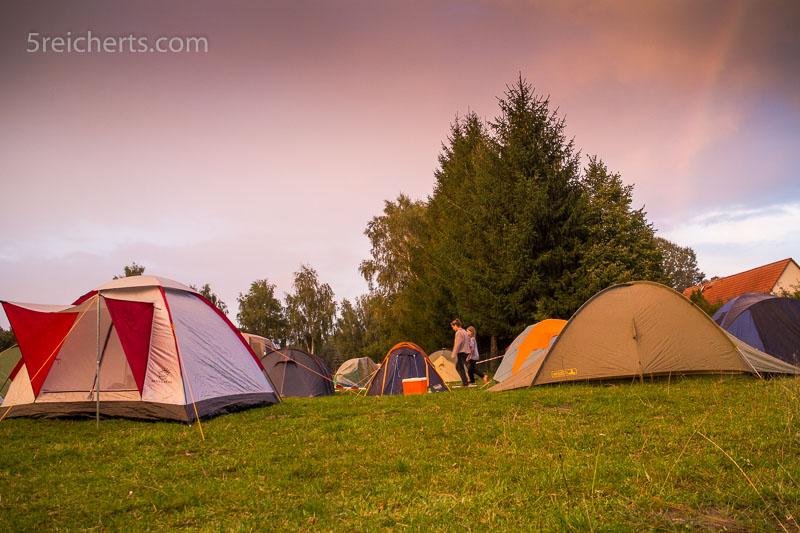 Zeltwald auf dem Schulfrei-Festival