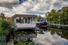 Das Hausboot im Hafen von Zehdenik