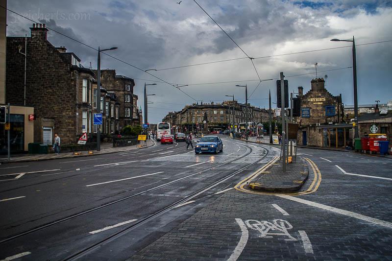 Es regnete, als ich durch Edinburgh fuhr