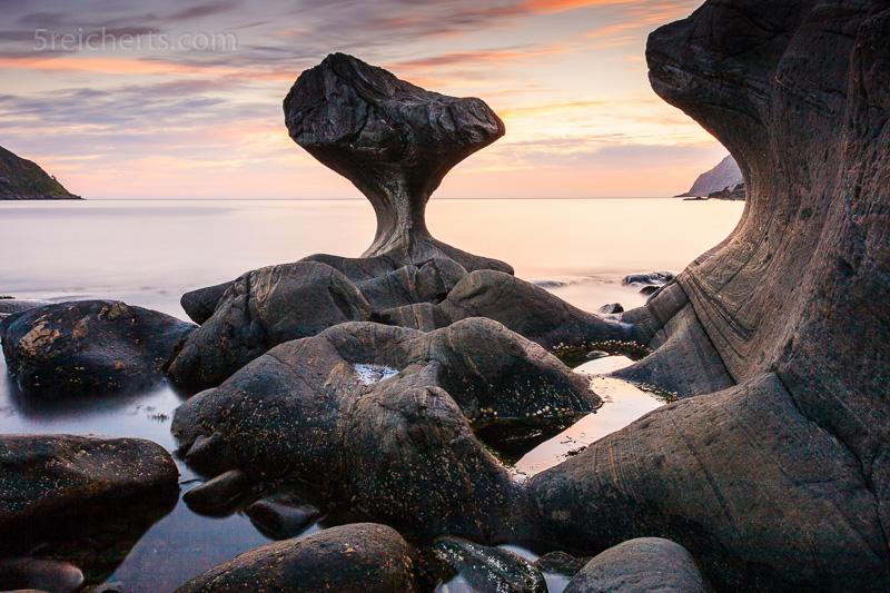Kannenstein auf der Insel Vagsøy