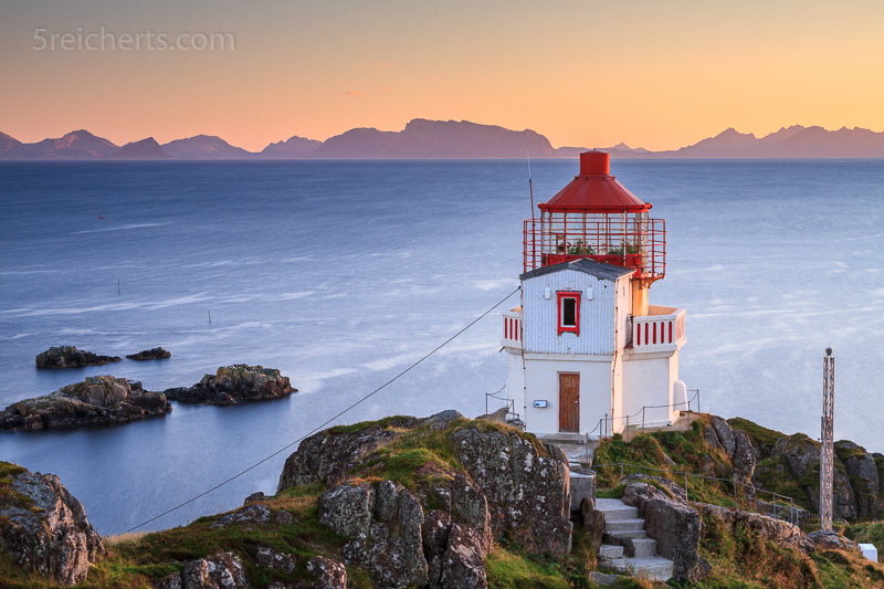 Littleisland Lighthouse im Abendlicht