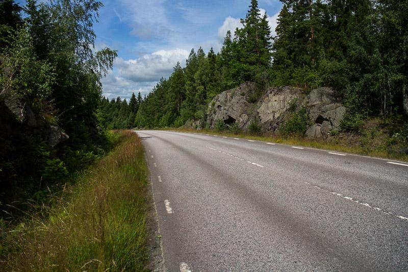 Genau auf dieser Straße bin ich auch letztes Jahr gefahren, als ich mit meiner damaligen Freundin unterwegs war.