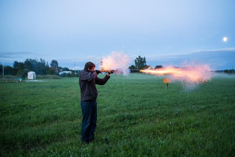 Oder wir haben eine alte Muskete (von 1815!) gefeuert