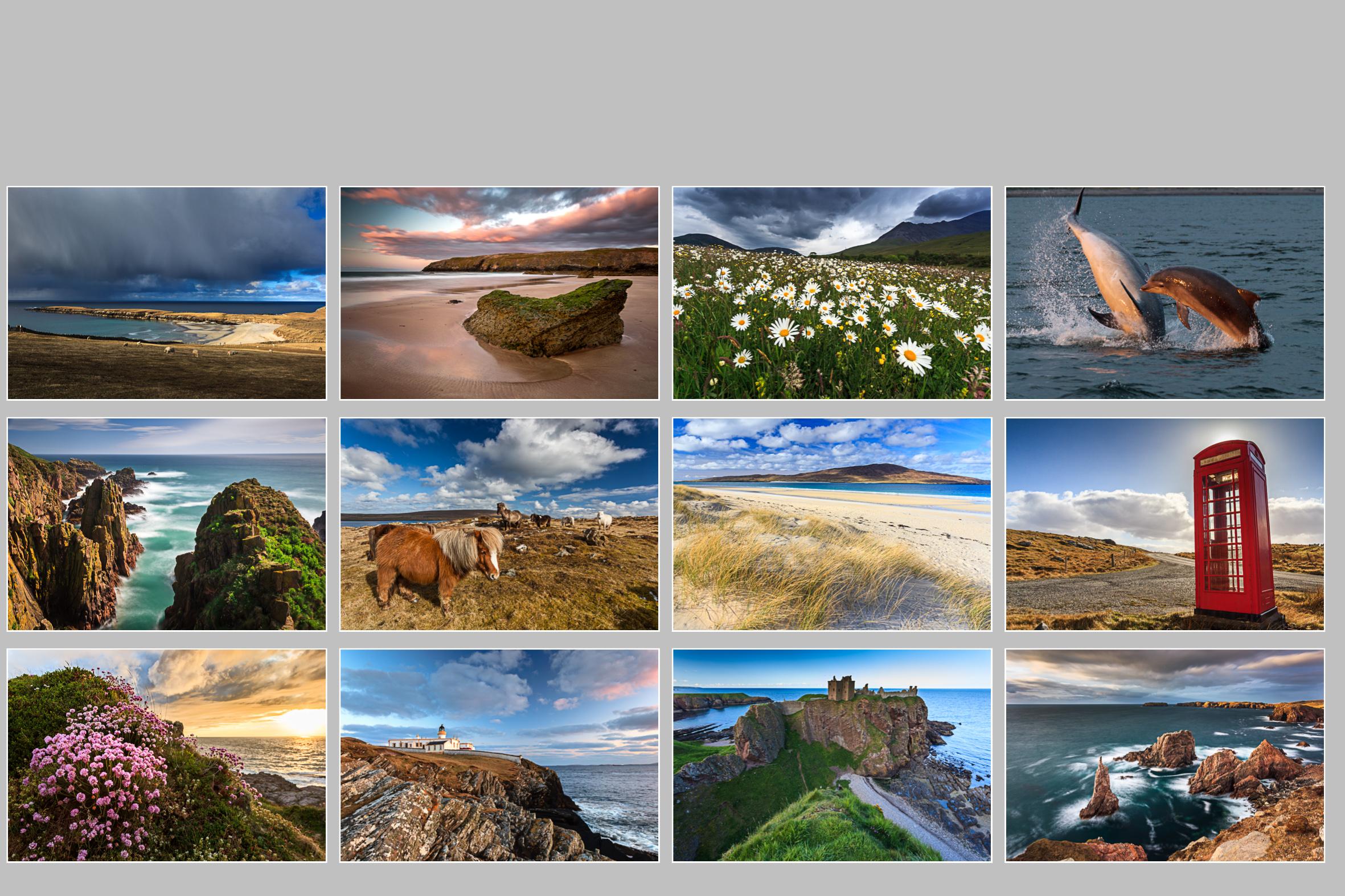 Übersicht, Schottland Kalender 2016
