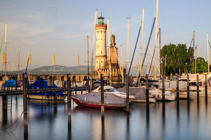 Leuchtturm in Lindau, Bodensee, Deutschland