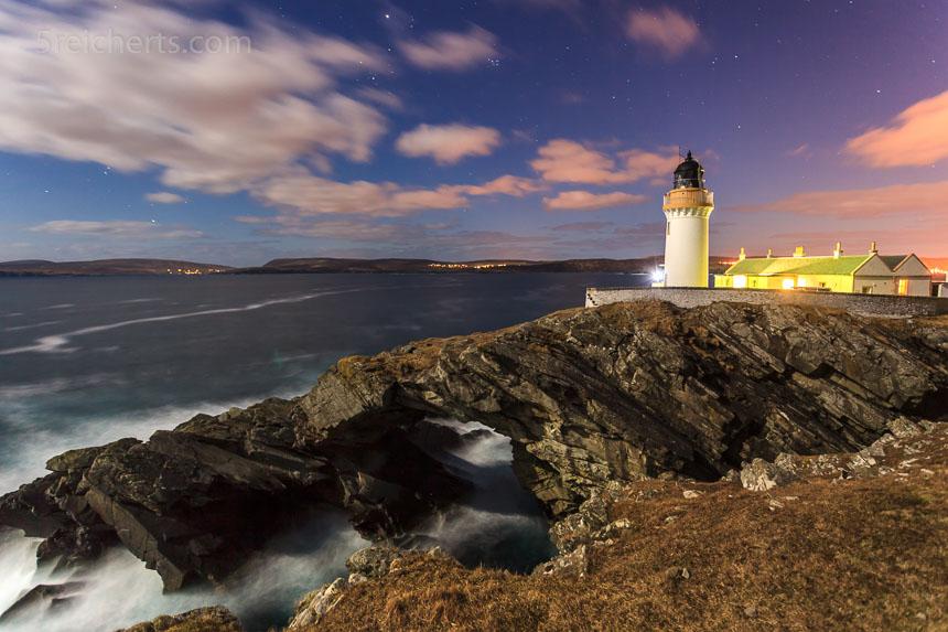 Nachtaufnahme Bressay Lighthouse
