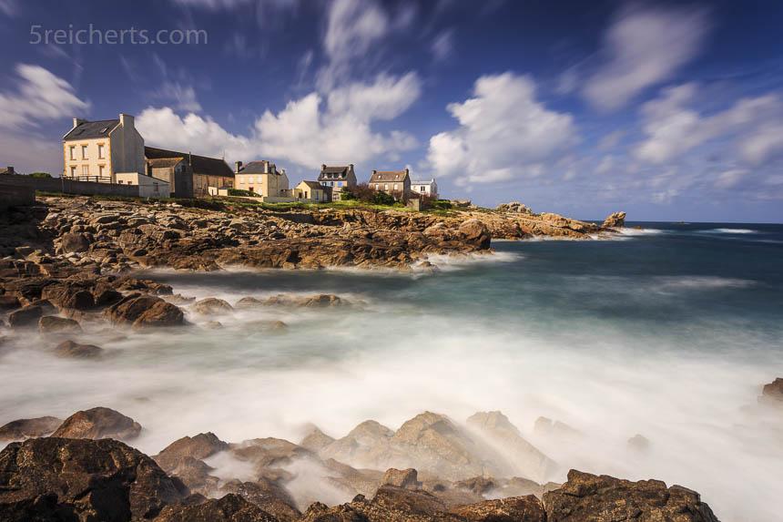 Häuser und Meer, Ile de Sein, Bretagne