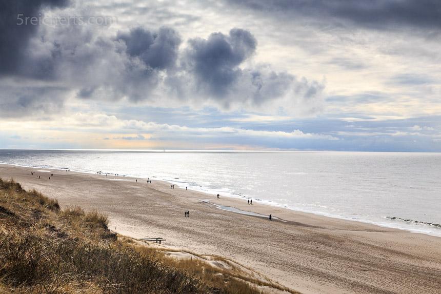 Blick zum Strand von Wenningsted, Sylt