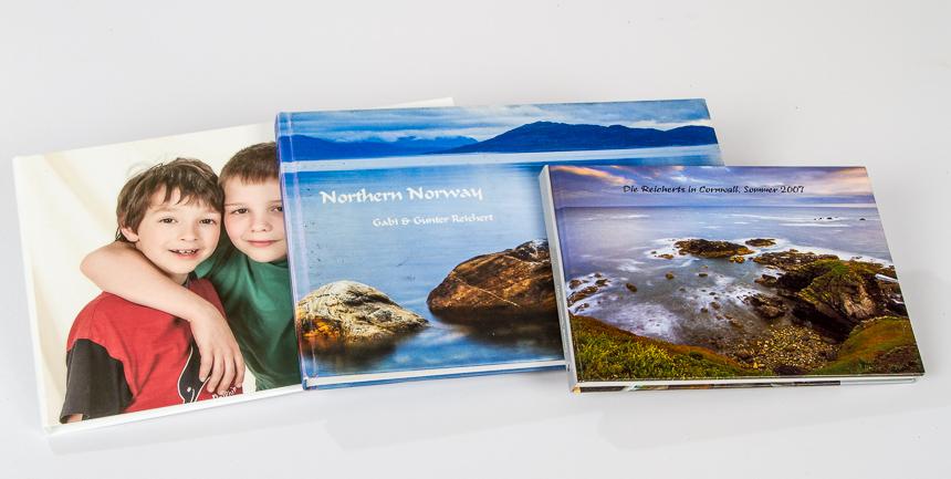 Fotobücher verschiedener Anbieter