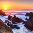 Sonnenuntergang, Plage Donnant, Belle Ile