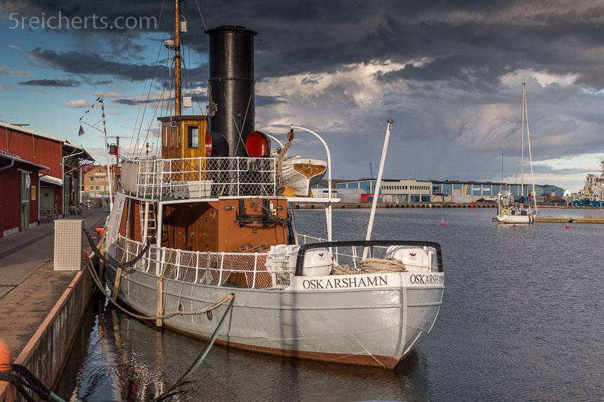 Im Hafen von Oskarshamn