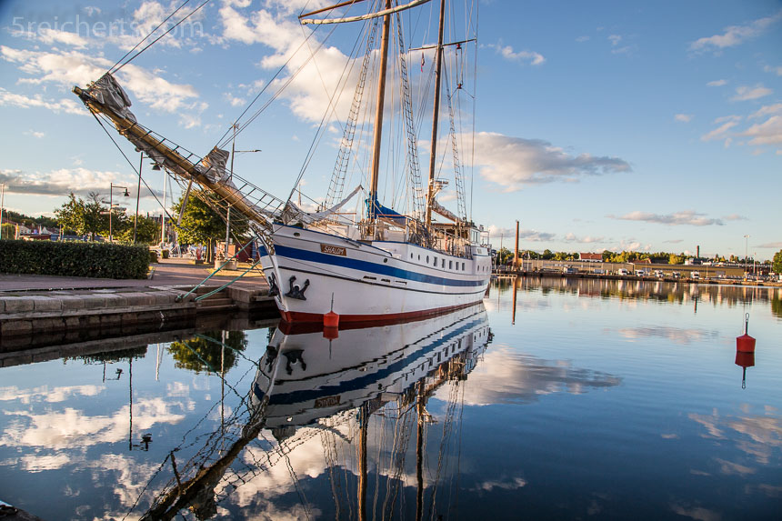 Im Hafen von Oskarshamn war es abends richtig schön
